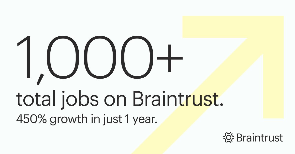 1,000 jobs posted on Braintrust (2)