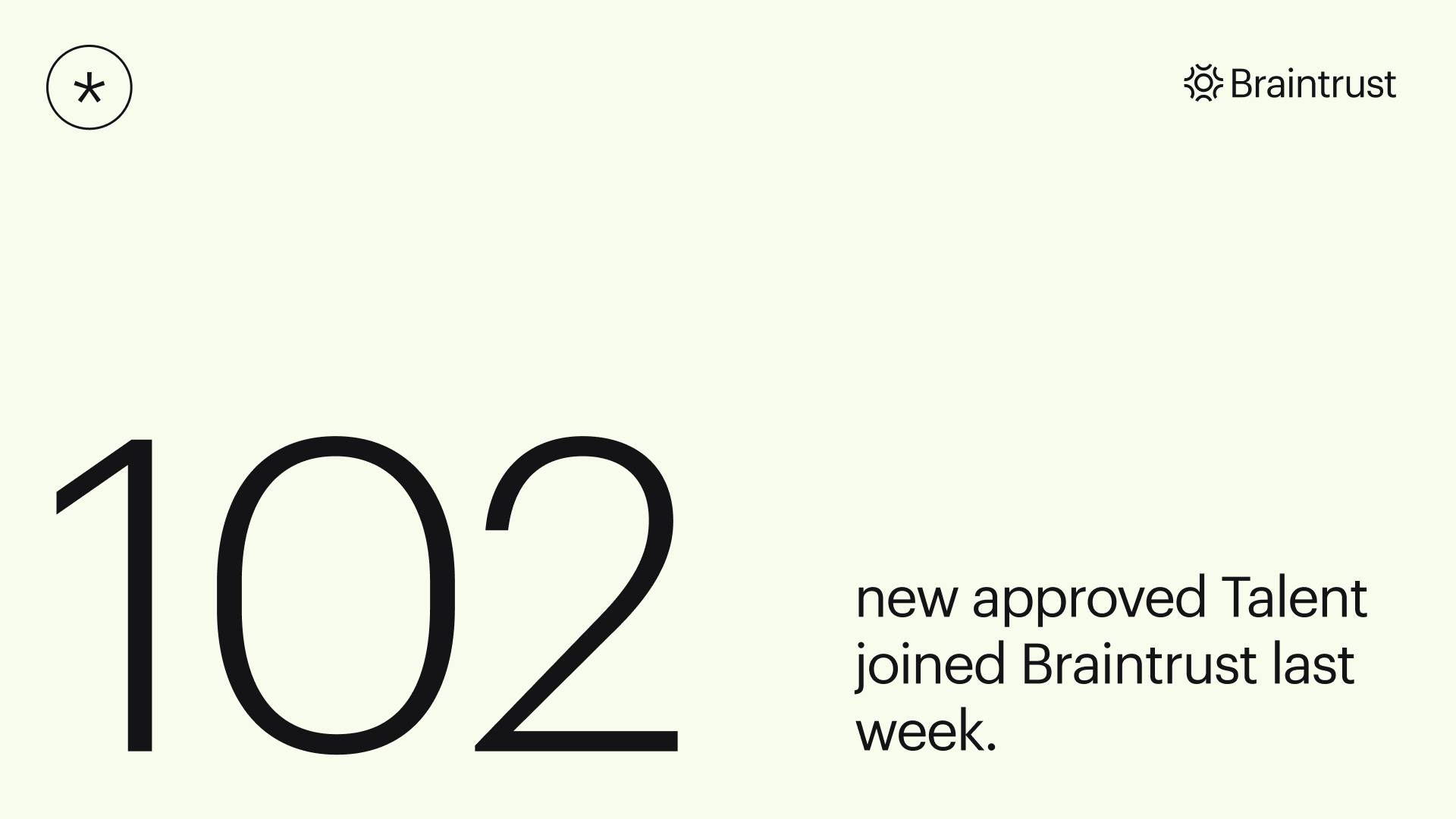 Braintrust growth report july 22 2021 102 new approved talent