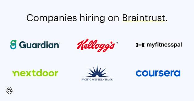 Companies hiring on Braintrust (2)