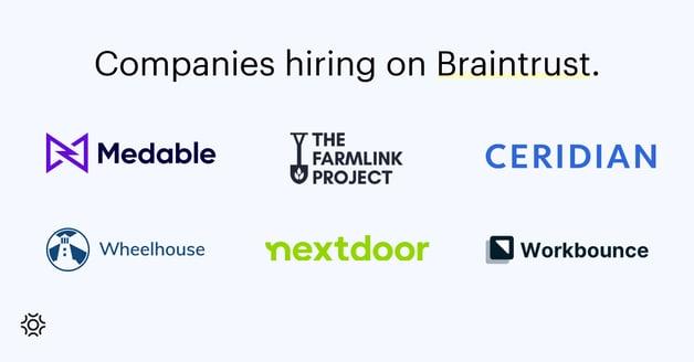 Companies hiring on Braintrust July 15 2022 (1)