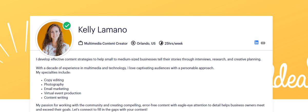 Braintrust Talent Kelly Lamano Multimedia Content Creator