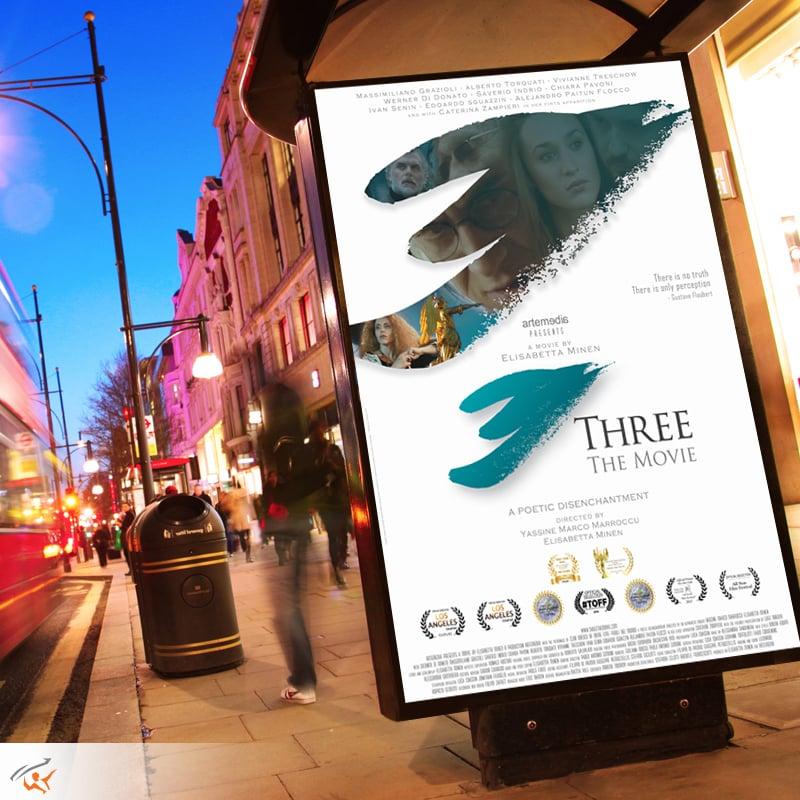 Sergio-Analco-Braintrust-Designer-Three-The Movie-Logo and poster design-Italy_2017