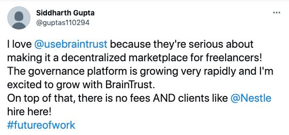 Braintrust Growth Report July 29, 2021 The Great Resignation Revelation - Siddhart Gupta Tweet