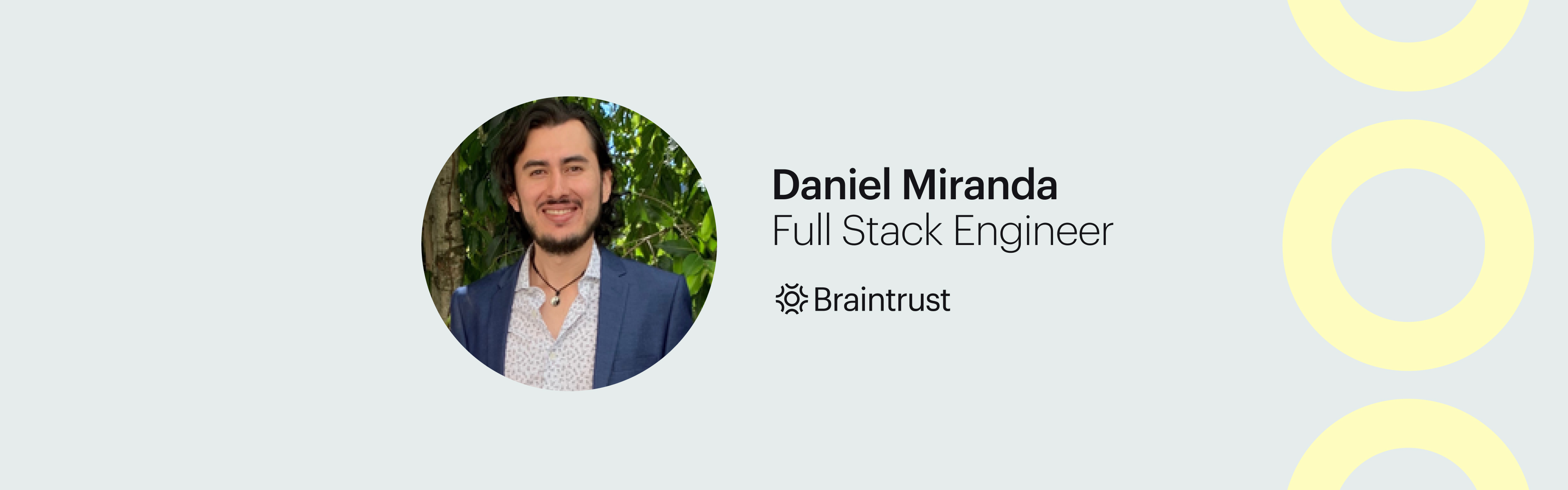 Talent Feature_ How Daniel Miranda, Full Stack Engineer, Created Real Business Impact for His Client blog banner