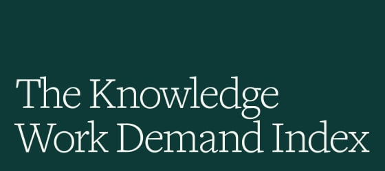 The Knowledge Work Demand Index postcard