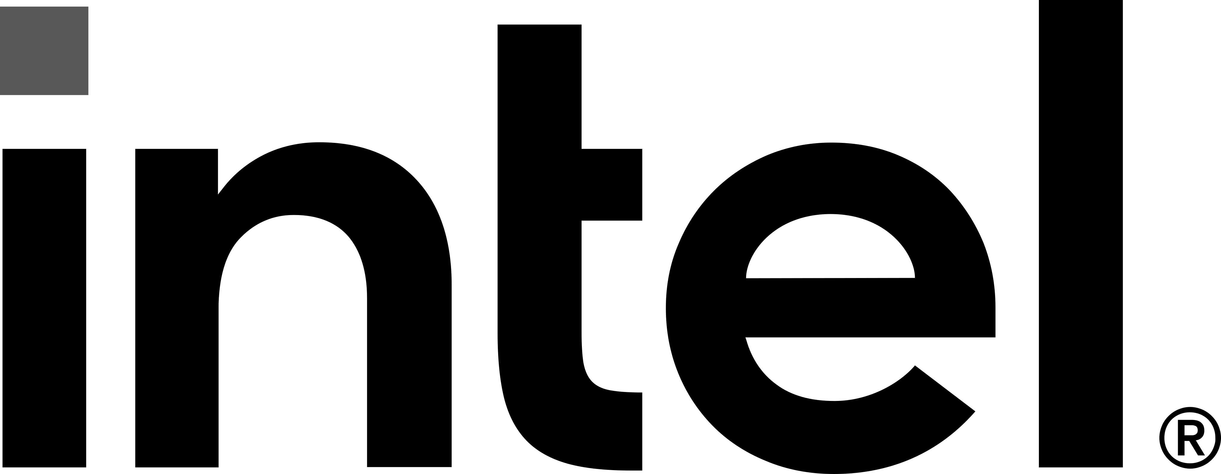 intel logo black